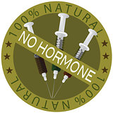 No Hormone 100% Natural Label