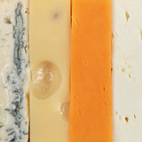 Four different types of cheese