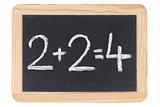 Mathematics on a blackboard or chalkboard