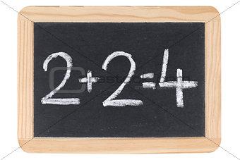 Mathematics on a blackboard or chalkboard