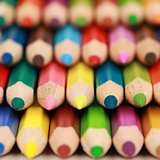 Colored pencils with copyspace