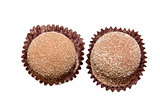 Two Cinnamon Sugar Coated Chocolate Isolated