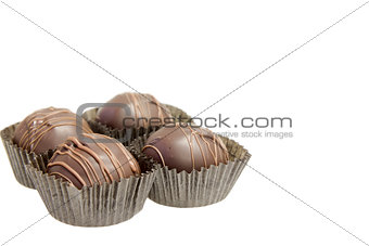 Group of Four Dark Chocolate Truffles