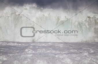 Big Ocean Wave Crashing to shore