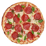 Sliced Pepperoni Pizza