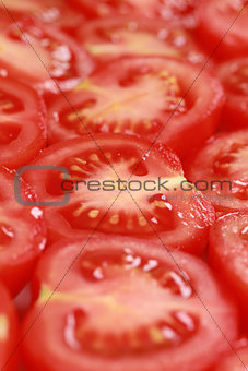 Tomatoes cut in slices