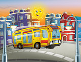 The happy face bus - tourist - the city