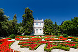 Villa Angiolina With a Beautiful Flowerbed Before an Entrance, O