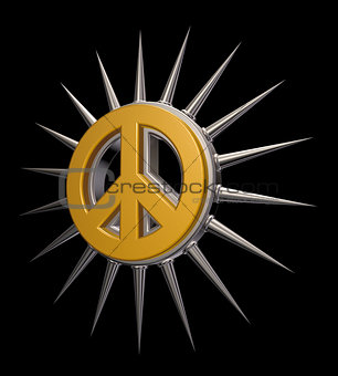 Peace sign with spikes