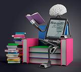 E-Book man reads