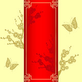 Oriental style Cherry blossom with butterfly