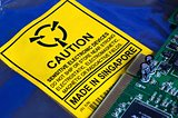 Electrostatic Warning Label and Computer Circuit board