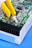 Repair the computer hard disk concept of troubleshooting and maintenance