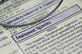 Searching a job concept of employment