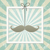 Mustache retro background