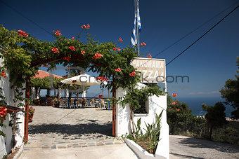 Skiathos' famous Panorama Pizza Restaurant