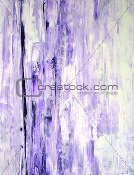 Lavender and White Abstract Art Painting