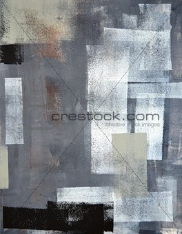 Green and Grey Abstract Art Painting