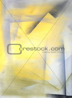 Grey and Yellow Abstract Art Drawing
