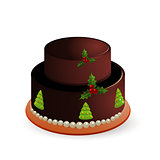Black forest Christmas cake