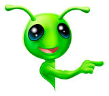 Green Alien Pointing