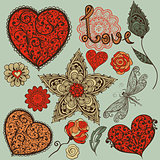 Vector Valentine&#39;s Day Design Elements