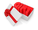 box with bow and ribbon