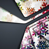 layered abstract background with snowflakes image