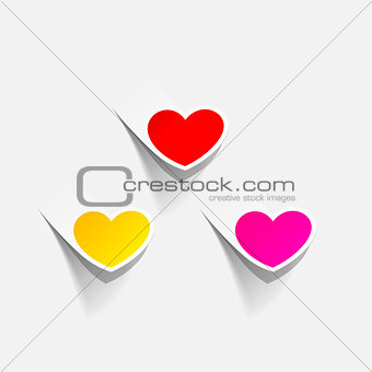 valentine heart in the form of a sticker