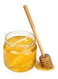 honey in jar isolated