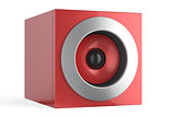 Red speaker