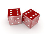 Dice. Concept 3D illustration.