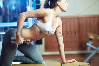 Exercising in sport club