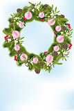 Christmas wreath with decoration