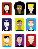 Set of Male Avatars