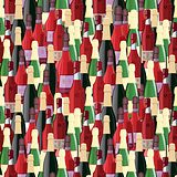 Bottles seamless pattern