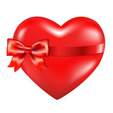 Red Heart With Red Bow