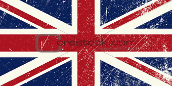 UK flag vintage