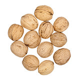 Heap of walnuts
