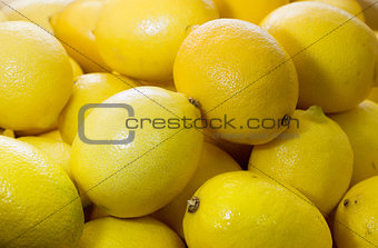 Background of fresh lemons