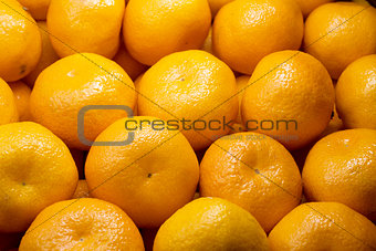 Background of fresh tangerines