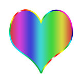 Rainbow heart