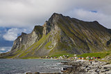 Lofoten rocky coast