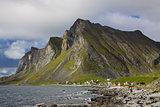 Lofoten rocky coast