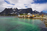 Village Sakrisoy on Lofoten