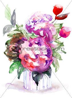 Beautiful Peonies flowers