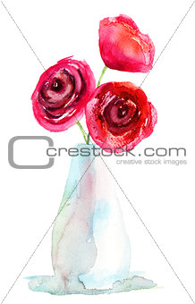 Three Red Roses flowers