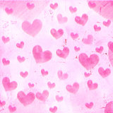 pink striped hearts on old paper