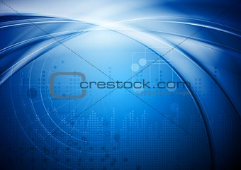 Bright blue vector design