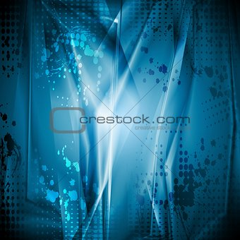 Bright blue grunge backdrop
